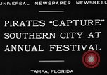 Image of Gasparilla Pirate festival Jose Gasparilla, 1930, second 6 stock footage video 65675049606