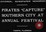 Image of Gasparilla Pirate festival Jose Gasparilla, 1930, second 7 stock footage video 65675049606