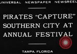 Image of Gasparilla Pirate festival Jose Gasparilla, 1930, second 8 stock footage video 65675049606