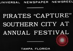 Image of Gasparilla Pirate festival Jose Gasparilla, 1930, second 9 stock footage video 65675049606