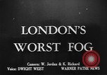 Image of fog London England United Kingdom, 1950, second 1 stock footage video 65675049650