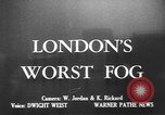 Image of fog London England United Kingdom, 1950, second 2 stock footage video 65675049650