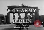 Image of Red Army Day Berlin East Germany, 1950, second 5 stock footage video 65675049656