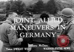 Image of Allied maneuvers Germany, 1950, second 1 stock footage video 65675049657