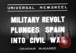 Image of Nationalist Armies Zaragoza Spain, 1936, second 3 stock footage video 65675049683