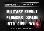 Image of Nationalist Armies Zaragoza Spain, 1936, second 6 stock footage video 65675049683
