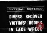 Image of divers recover bodies from Lake Michigan barge accident Chicago Illinois USA, 1936, second 1 stock footage video 65675049688