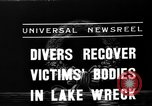 Image of divers recover bodies from Lake Michigan barge accident Chicago Illinois USA, 1936, second 3 stock footage video 65675049688