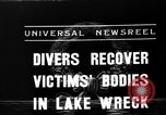 Image of divers recover bodies from Lake Michigan barge accident Chicago Illinois USA, 1936, second 5 stock footage video 65675049688