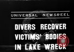 Image of divers recover bodies from Lake Michigan barge accident Chicago Illinois USA, 1936, second 6 stock footage video 65675049688