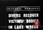 Image of divers recover bodies from Lake Michigan barge accident Chicago Illinois USA, 1936, second 7 stock footage video 65675049688