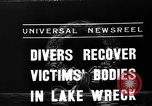 Image of divers recover bodies from Lake Michigan barge accident Chicago Illinois USA, 1936, second 8 stock footage video 65675049688