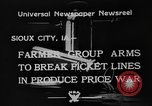 Image of farmers Sioux City Iowa USA, 1933, second 2 stock footage video 65675049744