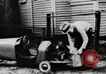 Image of Homemade car of newspaper boy Edward Floyd Seattle Washington USA, 1933, second 8 stock footage video 65675049746