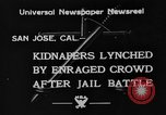 Image of Lynching in Saint James Park San Jose California USA, 1933, second 1 stock footage video 65675049749