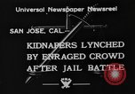 Image of Lynching in Saint James Park San Jose California USA, 1933, second 2 stock footage video 65675049749