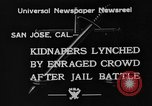Image of Lynching in Saint James Park San Jose California USA, 1933, second 3 stock footage video 65675049749