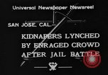 Image of Lynching in Saint James Park San Jose California USA, 1933, second 4 stock footage video 65675049749