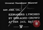 Image of Lynching in Saint James Park San Jose California USA, 1933, second 5 stock footage video 65675049749
