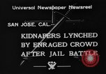 Image of Lynching in Saint James Park San Jose California USA, 1933, second 7 stock footage video 65675049749