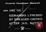 Image of Lynching in Saint James Park San Jose California USA, 1933, second 8 stock footage video 65675049749