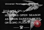 Image of wild geese Tule Lake California USA, 1933, second 4 stock footage video 65675049751