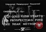 Image of mining gold Owensville Ohio, 1933, second 1 stock footage video 65675049752