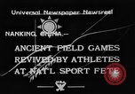 Image of National athletics meet Nanking China, 1933, second 1 stock footage video 65675049754