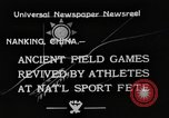 Image of National athletics meet Nanking China, 1933, second 3 stock footage video 65675049754