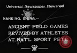 Image of National athletics meet Nanking China, 1933, second 4 stock footage video 65675049754