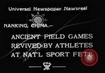Image of National athletics meet Nanking China, 1933, second 6 stock footage video 65675049754