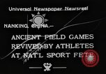 Image of National athletics meet Nanking China, 1933, second 7 stock footage video 65675049754