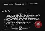 Image of Prohibition Repealed United States USA, 1933, second 3 stock footage video 65675049755