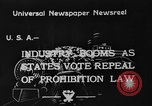 Image of Celebrations after Prohibition is repealed United States USA, 1933, second 5 stock footage video 65675049755