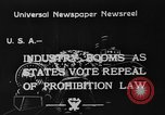 Image of Celebrations after Prohibition is repealed United States USA, 1933, second 6 stock footage video 65675049755