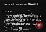 Image of Celebrations after Prohibition is repealed United States USA, 1933, second 7 stock footage video 65675049755