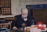 Image of Winston Churchill victory in Europe radio speech London England United Kingdom, 1945, second 6 stock footage video 65675049764