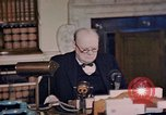 Image of Winston Churchill victory in Europe radio speech London England United Kingdom, 1945, second 8 stock footage video 65675049764
