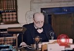 Image of Winston Churchill victory in Europe radio speech London England United Kingdom, 1945, second 9 stock footage video 65675049764