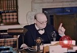 Image of Winston Churchill victory in Europe radio speech London England United Kingdom, 1945, second 10 stock footage video 65675049764