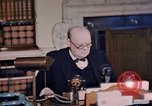 Image of Winston Churchill victory in Europe radio speech London England United Kingdom, 1945, second 11 stock footage video 65675049764