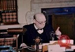 Image of Winston Churchill victory in Europe radio speech London England United Kingdom, 1945, second 12 stock footage video 65675049764