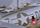Image of  P-47 aircraft of 386th Fighter Squadron Fritzlar Germany, 1945, second 5 stock footage video 65675049770