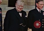 Image of Winston Churchill on VE Day London England United Kingdom, 1945, second 3 stock footage video 65675049805