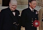 Image of Winston Churchill on VE Day London England United Kingdom, 1945, second 4 stock footage video 65675049805