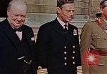 Image of Winston Churchill on VE Day London England United Kingdom, 1945, second 5 stock footage video 65675049805
