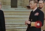 Image of Winston Churchill on VE Day London England United Kingdom, 1945, second 10 stock footage video 65675049805