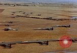 Image of Allied invasion gliders and C-47 tow planes parked France, 1944, second 10 stock footage video 65675049825