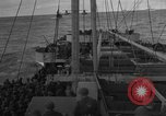 Image of Convoy of troops and supplies from America to England in World War 2 Atlantic Ocean, 1944, second 10 stock footage video 65675049845
