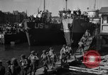 Image of Landing Craft Infantry Large offload American troops in Weymouth England Weymouth England, 1944, second 11 stock footage video 65675049850